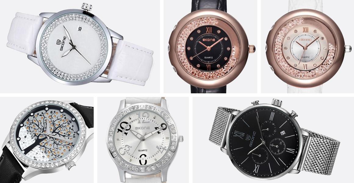 989ddaac973 Dámské hodinky s kamínky ozdobí každou ženu pro každou příležitost. Pánské  hodinky Skone jsou velmi klasické